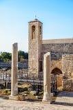 Igreja de Chrysopolitissa em Kato Paphos, Chipre Agia Kyriaki Chrysopolitissa Foto de Stock