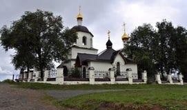 A igreja de Constantim e de Helena em Sviyazhsk Foto de Stock Royalty Free