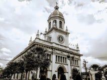 Igreja de construção velha Banguecoque Tailândia da arquitetura fotografia de stock