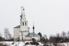 A igreja de Cosmas e de Damian Fotografia de Stock Royalty Free