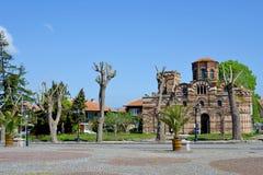 A igreja de Cristo Pantocrator em Nessebar, Bulgária Fotos de Stock