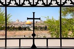 Igreja de Dominus Flevit em Jerusalem Foto de Stock