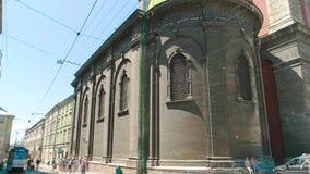Igreja de Dormition em Lviv video estoque