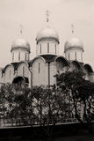 Igreja de Dormition Moscovo Kremlin Local do património mundial do Unesco Imagem de Stock