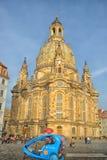 A igreja de Dresden Frauenkirche literalmente de nossa senhora fotos de stock royalty free