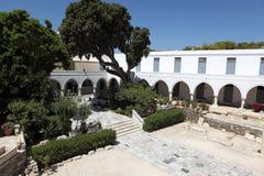 Igreja de Ekatontapiliani na ilha de Paros, Grécia Imagens de Stock