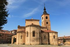 Igreja de El Salvador, Sepulveda Província de Segovia, Castilla-Leão fotos de stock royalty free