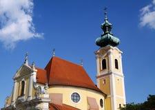 Igreja de encontro ao céu azul Foto de Stock