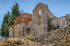 Igreja de Evangelistria em Mystras fotos de stock