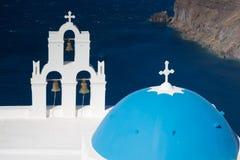 Igreja de Firostefani Fotos de Stock Royalty Free