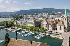 Igreja de Fraumunster de Suíça de Zurique Imagem de Stock Royalty Free