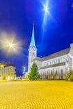 A igreja de Fraumunster (igreja das mulheres), Zurique Fotos de Stock Royalty Free
