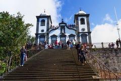 Igreja de Funchal Nossa senhora da montanha - Igreja Nossa Senhora faz Monte, Funchal, Madeira, Portugal Imagem de Stock