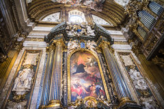 A igreja de Gesu em Corso Vittorio Emanuel 2 em Roma Itália Fotografia de Stock Royalty Free