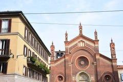 Igreja de Grazie do delle de Santa Maria em Milão Hospeda a pintura de Leonardo da Vinci Italia imagens de stock