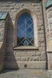 Igreja de Grebbestads, detalhe norte da janela Foto de Stock