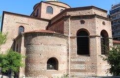 Igreja de Hagia Sophia Byzantine em Tessalónica imagens de stock royalty free