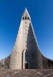 Igreja de Hallgrimskirkja em Reykjavik, Islândia Imagens de Stock Royalty Free