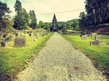 Igreja de Hamre, ilha Osteroy Noruega Foto de Stock