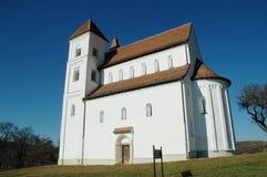A igreja de Herina/Harina/Monchsdorf, Romania Fotografia de Stock