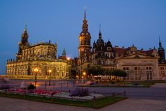Igreja de Hofkirche em Dresden Fotografia de Stock Royalty Free