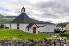 Igreja de Ilhas Faroé Fotos de Stock Royalty Free