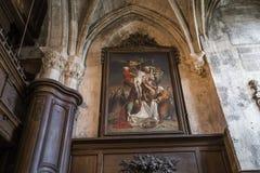 Igreja de Jacques de Saint, Compiegne, Oise, França Imagem de Stock