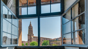 Igreja de Jacques de Saint em Montauban, França Fotografia de Stock