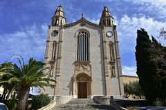 Igreja de Joan Batista na ilha Majorca, vila Calvia imagem de stock royalty free