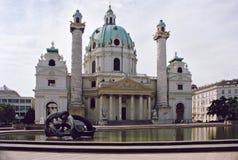 Igreja de Karlskirche em Viena, Áustria. Imagens de Stock Royalty Free
