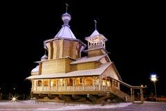 A igreja de madeira à antiga. Imagens de Stock Royalty Free