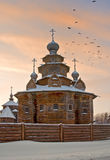 Igreja de madeira Imagem de Stock