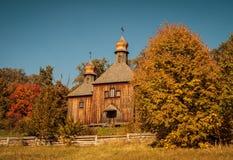 A igreja de madeira Fotografia de Stock Royalty Free