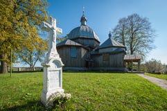 A igreja de madeira Imagens de Stock