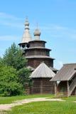 Igreja de madeira antiga. imagens de stock royalty free