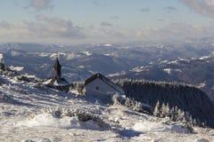 Igreja de madeira da montanha Fotografia de Stock Royalty Free