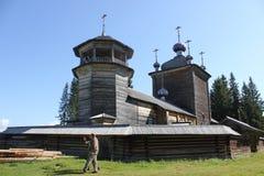 Igreja de madeira de Elijah o profeta Imagens de Stock