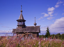 Igreja de madeira de Elijah o profeta Fotografia de Stock Royalty Free