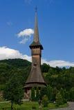 Igreja de madeira do monastério de Barsana Fotos de Stock Royalty Free