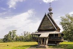 Igreja de madeira do russo. Fotos de Stock