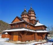 Igreja de madeira em Ivano-Frankivsk imagem de stock royalty free