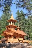 Igreja de madeira em Rússia. Fotografia de Stock Royalty Free