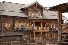 Igreja de madeira em Rússia Imagem de Stock Royalty Free