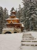 Igreja de madeira Jaszczurowka em Zakopane, Polônia imagem de stock
