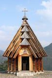 Igreja de madeira na montanha Foto de Stock