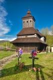 Igreja de madeira no ské Krivé do  de UliÄ Imagem de Stock Royalty Free