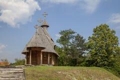 Igreja de madeira ortodoxo Imagens de Stock Royalty Free