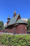 Igreja de madeira pequena do russo do St Ioann Imagem de Stock