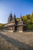 Igreja de madeira tradicional velha da região de Zakarpattia Fotografia de Stock