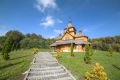 Igreja de madeira velha Imagem de Stock Royalty Free